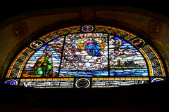 Virgen målat glass Fotografering för Bildbyråer