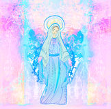Virgen María bendecido Fotos de archivo libres de regalías