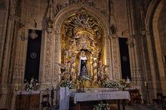 Virgen María en la catedral de Salamanca Fotos de archivo libres de regalías