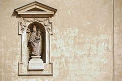 Virgen Maria bendecida y Jesucristo. Imagen de archivo