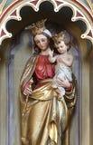 Virgen Maria con el bebé Jesús Fotos de archivo