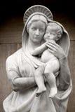 Virgen Maria con el bebé Jesús Fotos de archivo libres de regalías
