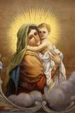 Virgen Maria con el bebé Jesús Foto de archivo libre de regalías