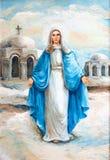 Pintura al óleo del Virgen María   Fotos de archivo