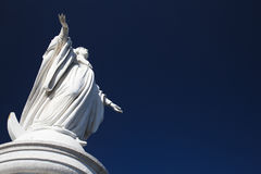 Virgen Maria Denkmal auf San Cristobal lizenzfreies stockbild