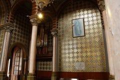 Virgen Maria e iglesia del órgano en la catedral, León, Guanajuato fotografía de archivo libre de regalías