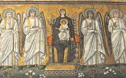 Virgen Maria y ángeles Imágenes de archivo libres de regalías
