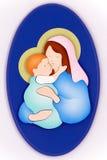 Virgen Maria y niño Fotos de archivo libres de regalías