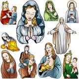 Virgen Mary Set Fotos de archivo libres de regalías