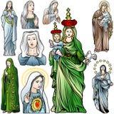 Virgen Mary Set Fotos de archivo