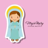 Virgen mary sticker Stock Image
