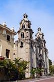 Virgen Milagrosa教会在米拉弗洛雷斯 图库摄影