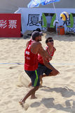 virgen and oniveros,mexico beach volleyball player Stock Images
