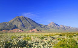 Virgens volcanoes in Baja. Geothermic zone known as the three Virgens volcanoes in Baja California sur, Mexico Stock Images