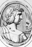 Virgil. Publius Vergilius Maro (70BC-19BC) on engraving from 1685. Ancient Roman poet. Engraved by Leonardo Agostini and published in Gemmae et Sculpturae Royalty Free Stock Photos