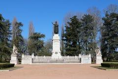 Virgilio monument, mantua, italy. Original photo virgilio monument, mantova Royalty Free Stock Images