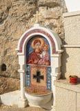 virgin масла мозаики mary светильника jesus иконы младенца передний Стоковое Изображение RF