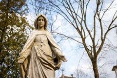 virgin статуи mary Стоковая Фотография