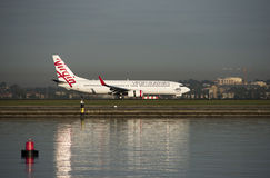 Virgin Airlines Airbus A300-800 at Kingsford-Smith Airport, Sydney Royalty Free Stock Images