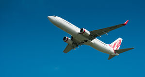 Virgin Airways Boeing 737 in flight Stock Photography