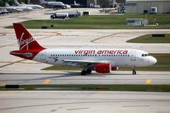 Virgin América Airbus A319 Fotografia de Stock Royalty Free