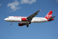 Free Virgin America Airbus A320 Stock Photo - 28927710