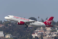 Virgin America Airbus A320-214 N847VA departing San Diego International Airport. Stock Photo