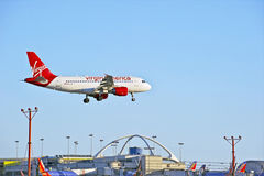 Virgin America Airlines Commercial Passenger Jet Royalty Free Stock Photos