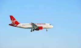 Virgin America Airlines Commercial Passenger Jet Royalty Free Stock Photo