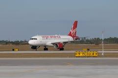Virgin America Direct Air Royalty Free Stock Image