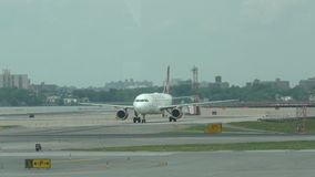 Virgin America jet taxiing stock video