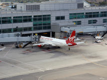 Virgin America planes parked Royalty Free Stock Photos