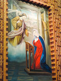 Virgin with angel painting at st. Mina Cathedral Stock Photography