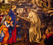 Virgin Appearing St. Bernard Lippi Painting Stock Image