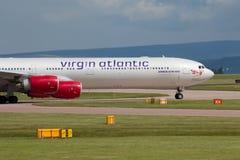 Virgin Atlantic A340 Imagens de Stock