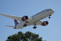 Virgin Atlantic Airways Boeing 787-9 on Final Landing Approach royalty free stock images