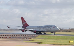 Virgin Atlantic Boeing 747 Fotografia de Stock Royalty Free