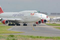 Virgin atlantic Boeing 747 - 400 Stock Photos