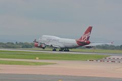 Virgin atlantic 747 - 400 Stock Photos