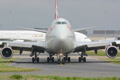 Virgin atlantic 747 - 400 Royalty Free Stock Photo