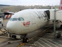 Virgin Atlantic flygbuss A330 Arkivbild