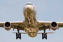 Virgin Atlantic plane landing. stock photo