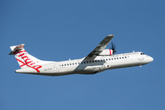 Virgin Australia Airlines ATR ATR 72-600 twin engined aircraft. royalty free stock photos