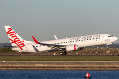 Virgin Australia Airlines Boeing 737-800 aircraft taking off from Sydney Airport. Royalty Free Stock Photo