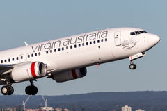 Virgin Australia Airlines Boeing 737-800 aircraft taking off from Sydney Airport. Royalty Free Stock Photos