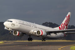 Virgin Australia Airlines Boeing 737-8FE VH-YVA taking off from Melbourne International Airport. Royalty Free Stock Photography