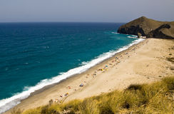 Virgin beach. One of the virgin beaches in Cabo de Gata National Park, Spain Stock Photo