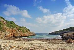 Virgin beach in Majorca (Spain) stock photography