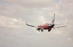 Virgin Blue decolla Fotografie Stock