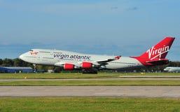 Virgin Boeing atlântico 747 Fotografia de Stock Royalty Free